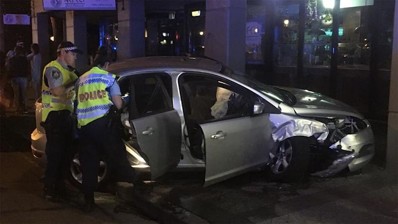 The driver of the Ford Focus fled the Newtown crash scene on foot. Source: Twitter