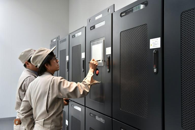 A hydrogen research and development center at a Toshiba plant in Tokyo. Given their huge energy needs and reliance on imported fossil fuels, Asian industrial heavyweights China, Japan and South Korea are keen on the prospect of green hydrogen.