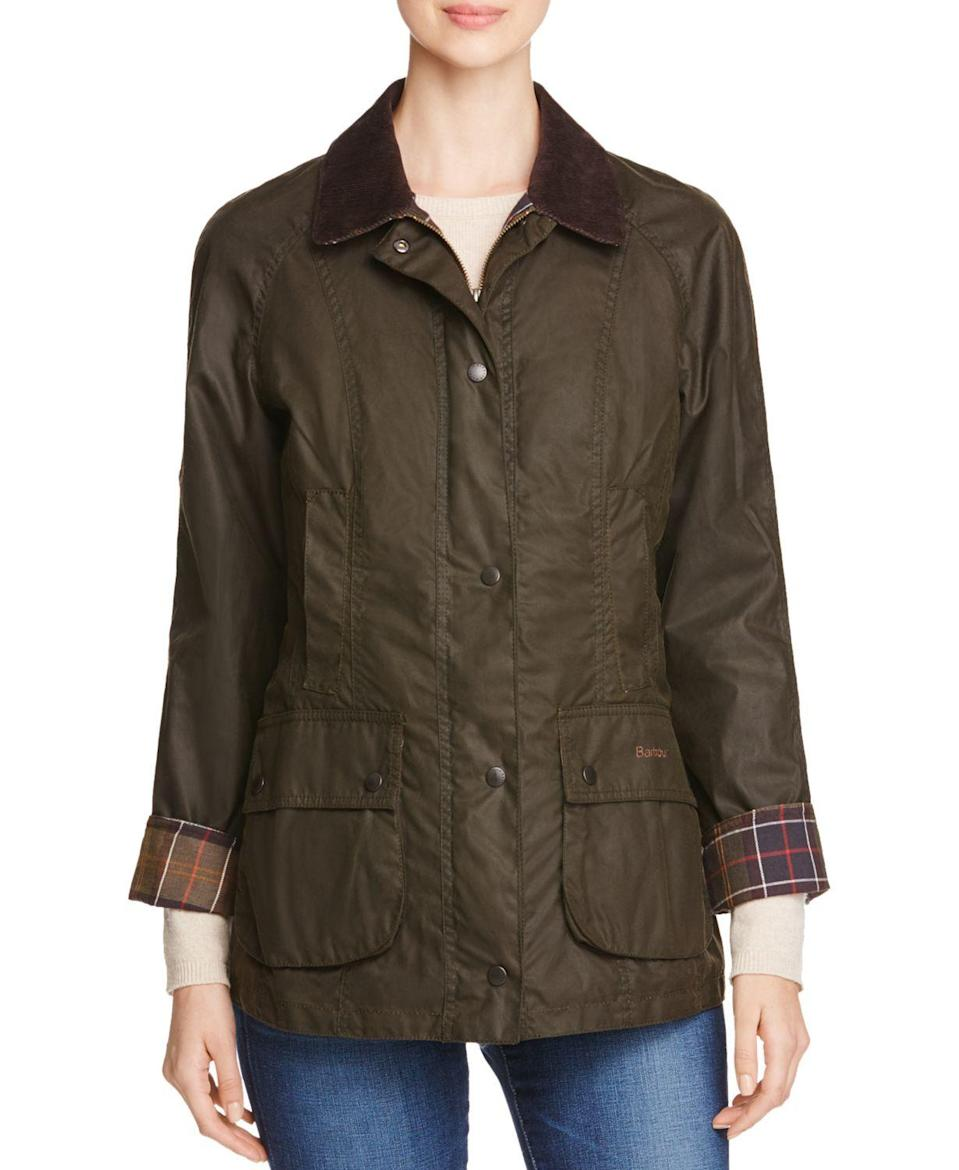 "<p><strong>Classic Beadnell Waxed Cotton Jacket</strong></p><p>bloomingdales.com</p><p><strong>$415.00</strong></p><p><a href=""https://go.redirectingat.com?id=74968X1596630&url=https%3A%2F%2Fwww.bloomingdales.com%2Fshop%2Fproduct%2Fbarbour-classic-beadnell-waxed-cotton-jacket%3FID%3D629173&sref=https%3A%2F%2Fwww.townandcountrymag.com%2Fsociety%2Ftradition%2Fg34414467%2Fkate-middleton-gift-guide%2F"" rel=""nofollow noopener"" target=""_blank"" data-ylk=""slk:Shop Now"" class=""link rapid-noclick-resp"">Shop Now</a></p><p>Like <a href=""https://www.townandcountrymag.com/society/tradition/g32379892/meghan-markle-queen-elizabeth-royal-family-barbour-photos/"" rel=""nofollow noopener"" target=""_blank"" data-ylk=""slk:nearly every other member of the royal family"" class=""link rapid-noclick-resp"">nearly every other member of the royal family</a>, Kate is a Barbour devotee. She's most often spotted in the classic brand's waxed jackets, similar to this one.</p>"