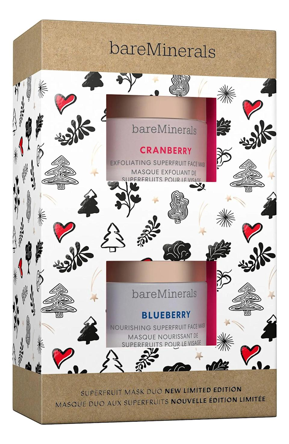 <p>Looking for a stocking stuffer for a skin-care lover? The <span>Bareminerals Superfruit Mini Face Mask Duo</span> ($20) has got you covered.</p>