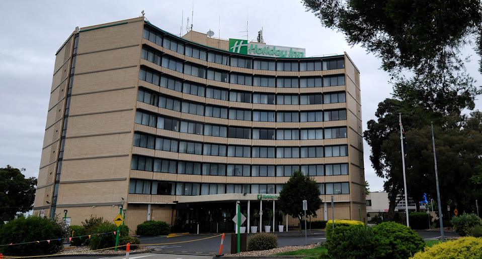 A resident of the Holiday Inn at Melbourne Airport has returned a positive test after completing her 14-day stay. Source: AAP