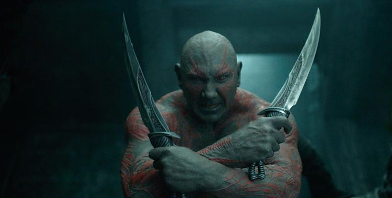Dave Bautista as Drax in <i>Guardians of the Galaxy</i> (Disney)