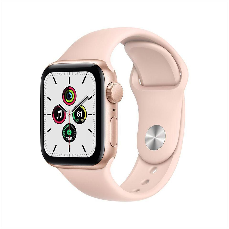 "<p><strong>Apple</strong></p><p>amazon.com</p><p><strong>$249.99</strong></p><p><a href=""https://www.amazon.com/dp/B08J5ZRFRG?tag=syn-yahoo-20&ascsubtag=%5Bartid%7C2089.g.154%5Bsrc%7Cyahoo-us"" rel=""nofollow noopener"" target=""_blank"" data-ylk=""slk:Shop Now"" class=""link rapid-noclick-resp"">Shop Now</a></p><p>The Apple Watch SE is as effortless and intuitive to use as a smartwatch can be. In addition to fitness-tracking capabilities and a large retina OLED display, Apple watchOS 5 brings a dedicated App Store with thousands of Apple Watch-optimized picks. This all but guarantees that she can take longer breaks from her iPhone.</p>"