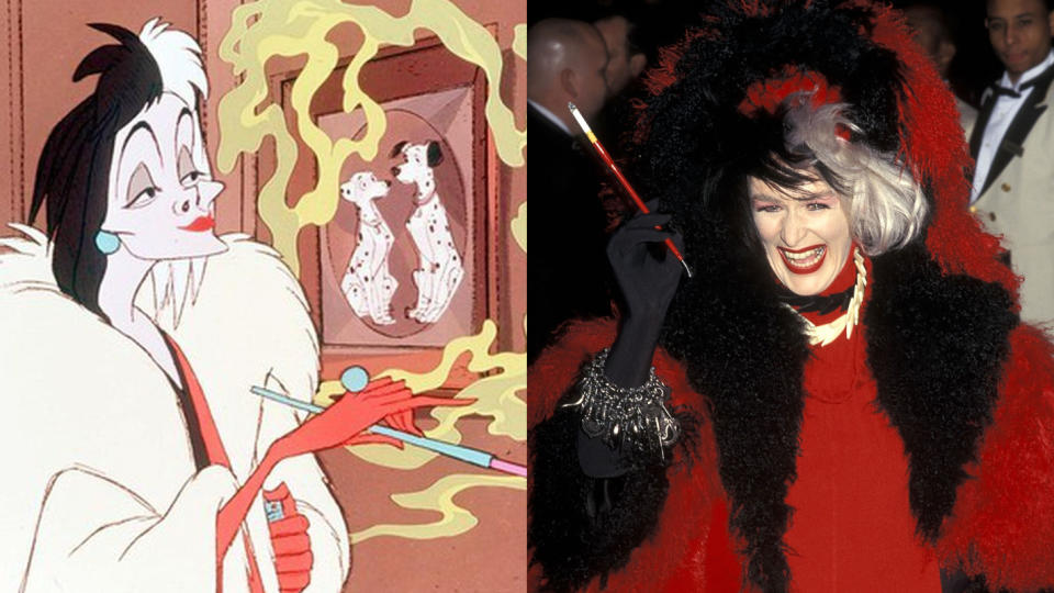 Cruella de Vil has traditionally been depicted on screen wielding a long cigarette holder. (Disney/Ron Galella Collection via Getty Images)