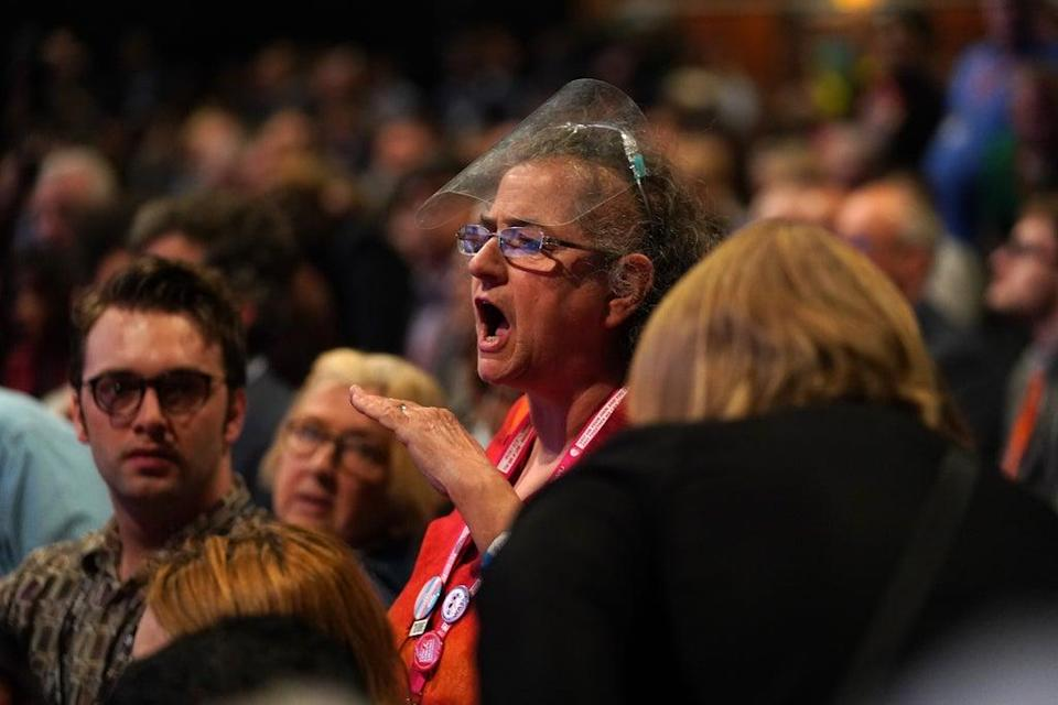 Activist Carole Vincent heckled Sir Keir Starmer (Andrew Matthews/PA) (PA Wire)