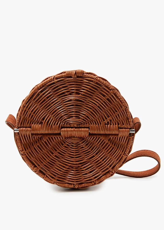 "Rachel Comey All Wicker Baan in Honey-Melon, $472; at <a rel=""nofollow"" href=""http://needsupply.com/womens/bags/all-wicker-baan-in-honey-melon.html"" rel="""">Need Supply Co.</a>"