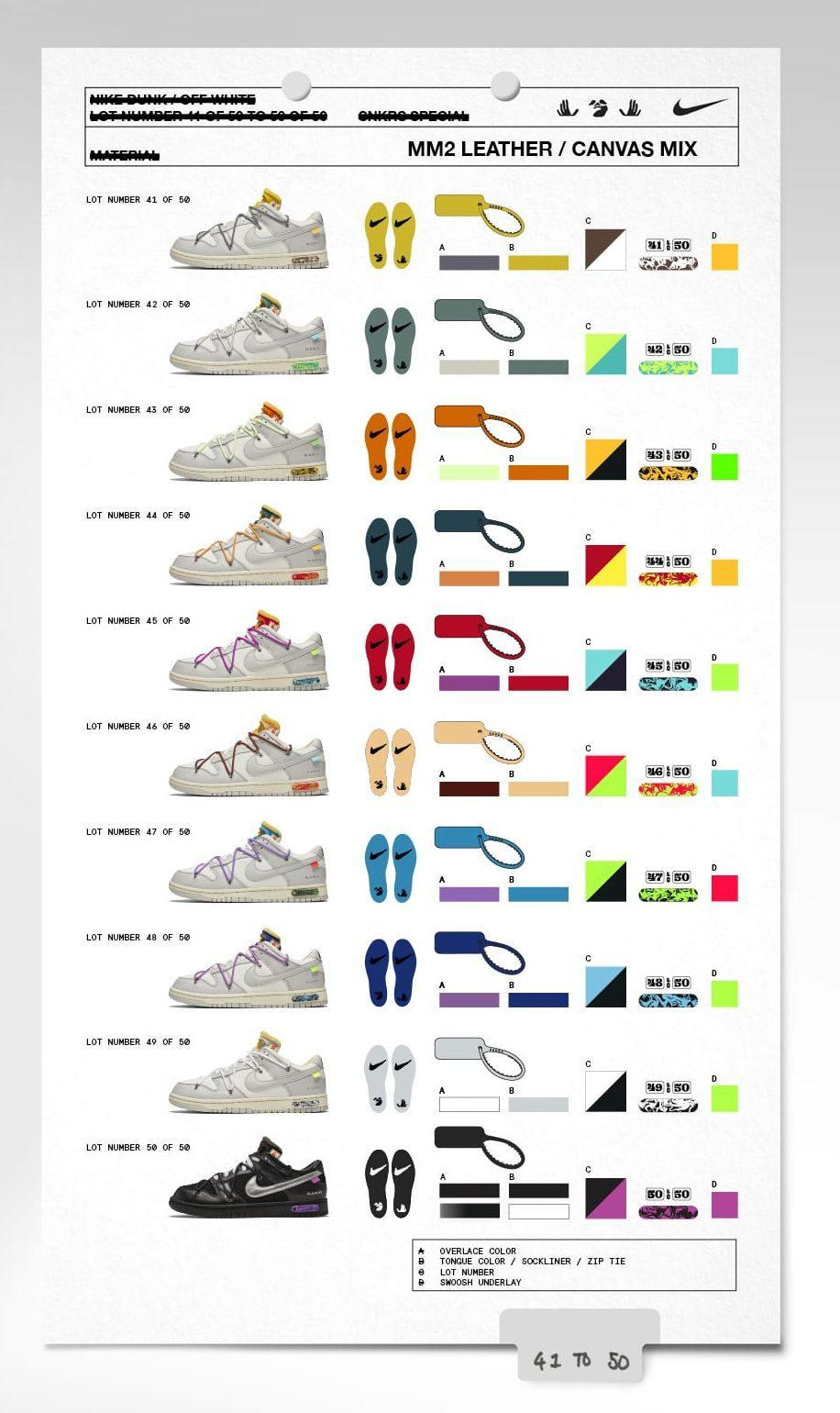 The Off-White x Nike Dunk Low collabs. - Credit: Courtesy of Nike