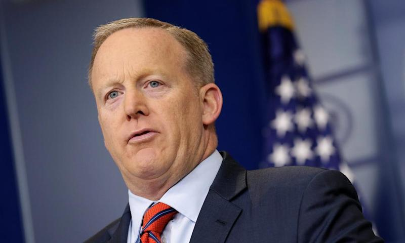 Professional spokesperson Sean Spicer.