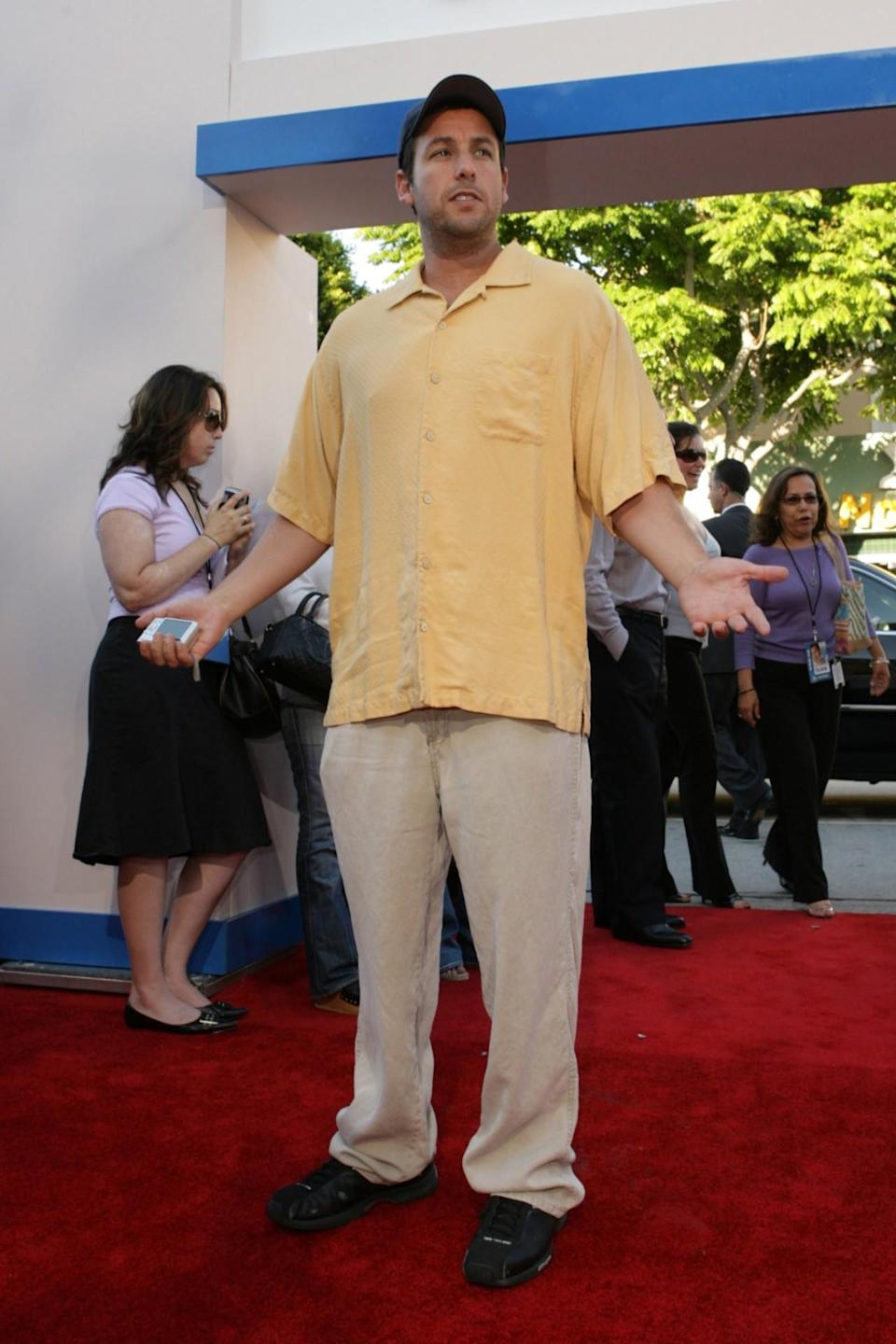 <p>He pulled off some grandpa cosplay at the Hollywood premiere of <i>Click</i> in 2006. (Photo: E. Charbonneau/WireImage for Sony Pictures)</p>