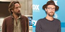 <p>See what a simple haircut, beard trim, and glasses can do for a guy? This <em>Sleepy Hollow</em> star looks like a modern, well-groomed man in his everyday life.</p>