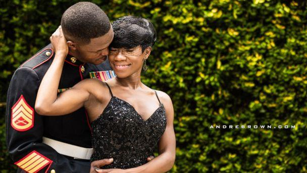 PHOTO: Nakita Brown threw a surprise wedding for her now husband, Rymario Armstrong, a Marine, in Beaufort, S.C. (AndreBrown.com/Elevatecreations.com)
