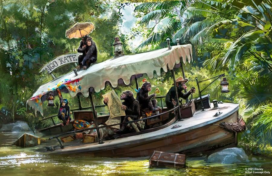 <p>Disney animator-designer Marc Davis created concept art to show what the reimagined Jungle Cruise ride will look like with the intention of doing away with any offensive depictions of indigenous people.</p>