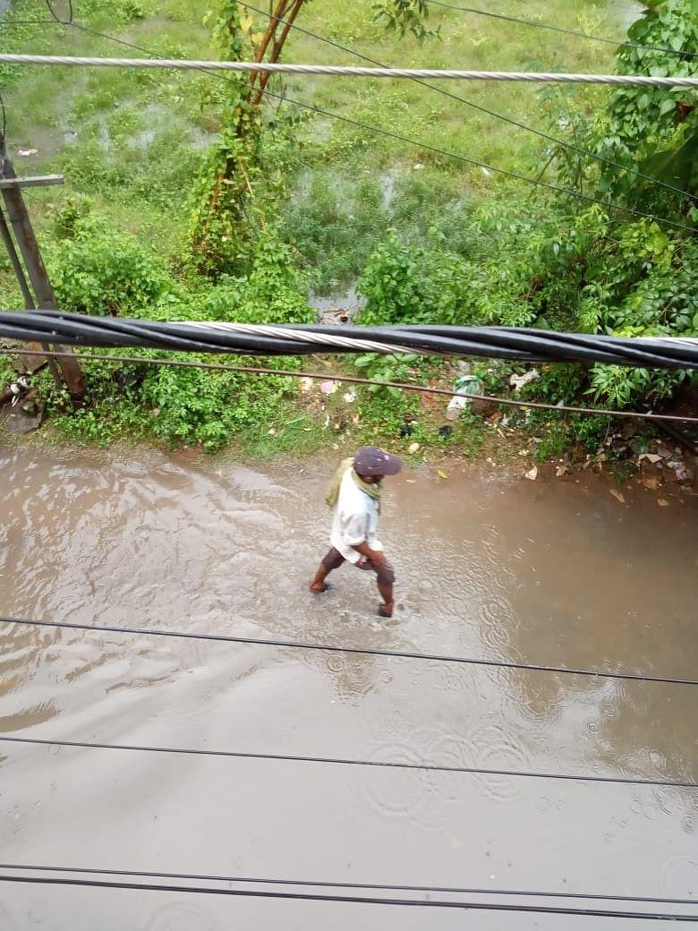 """<div class=""""paragraphs""""><p>Waterlogged roads in Cuttack.</p></div>"""