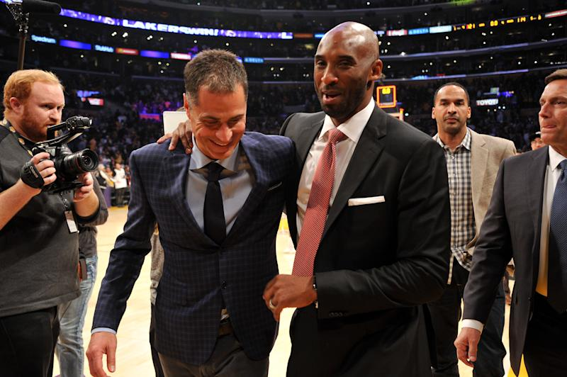 Well, Lakers general manager Rob Pelinka is Kobe Bryant's former agent ... (Getty Images)