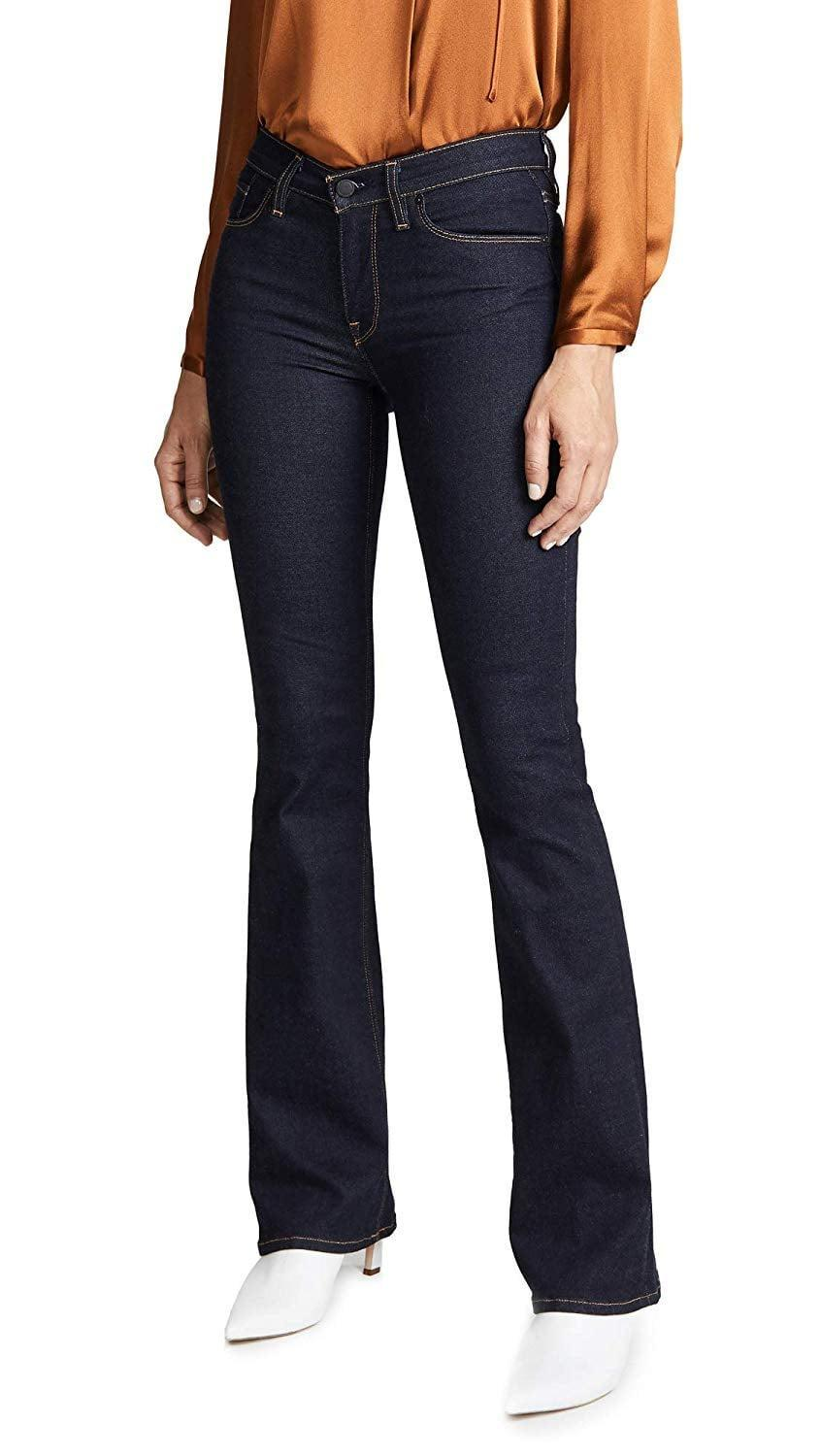 <p>If you're over your skinnies, try these <span>Hudson Jeans Drew Midrise Bootcut Jeans </span> ($89 - $205).</p>