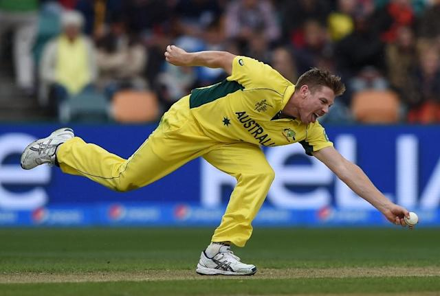 Australian cricketer James Faulkner joins Lancashire for most of the English season after playing in the Twenty20 Indian Premier League (AFP Photo/Indranil Mukherjee)