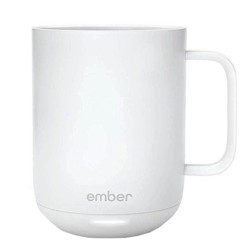 """<p><strong>Ember</strong></p><p>amazon.com</p><p><strong>$109.95</strong></p><p><a href=""""https://www.amazon.com/Ember-Black-Ceramic-Mug-Gen/dp/B07NQRM6ML?tag=syn-yahoo-20&ascsubtag=%5Bartid%7C10054.g.26887058%5Bsrc%7Cyahoo-us"""" rel=""""nofollow noopener"""" target=""""_blank"""" data-ylk=""""slk:Buy"""" class=""""link rapid-noclick-resp"""">Buy</a></p><p>With Ember, she'll never be sipping cold coffee, even if it's been sitting in her mug for hours.</p>"""