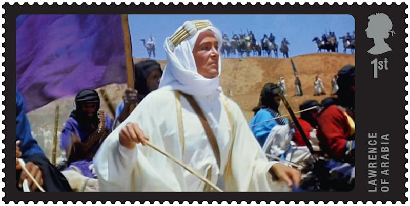 A postage stamps showing a scene from Lawrence Of Arabia (Royal Mail/PA)