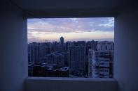 Buildings of residential compounds are seen in Shanghai