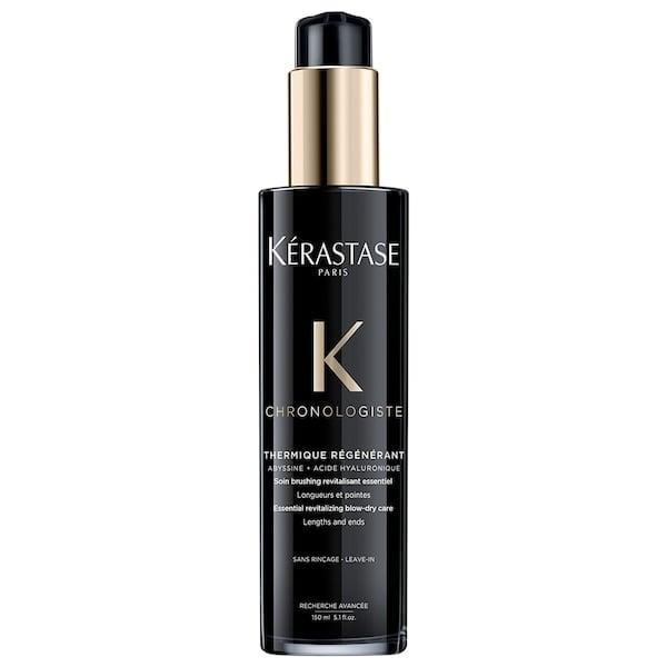<p>This <span>Kérastase Chronologiste Blow-Dry Primer For Dull And Brittle Hair</span> ($52) offers heat and humidity protection to hair before, during, and after styling, thanks to ingredients like hyaluronic acid and vitamin E.</p>