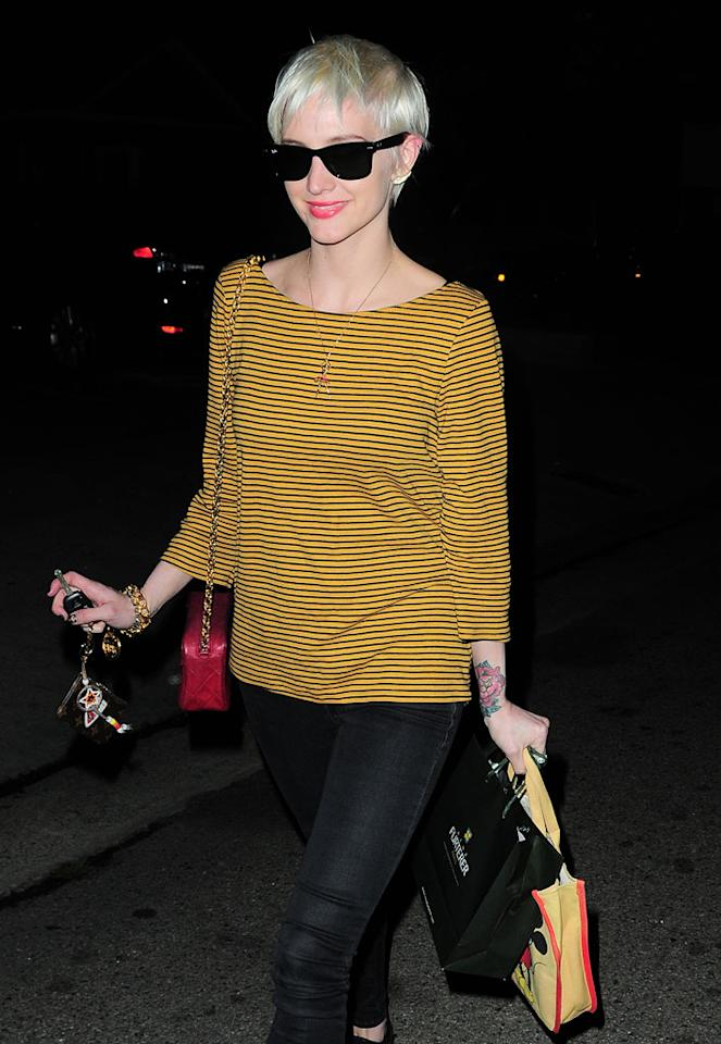 "Ashlee Simpson was spotted sporting a brand new 'do Thursday night after spending over three hours upgrading her tresses from blond to platinum at the Andy Lecompte Salon in West Hollywood. Do you think the singer's new haircut is hot ... or not? EM43/<a href=""http://www.splashnewsonline.com"" target=""new"">Splash News</a> - January 27, 2011"