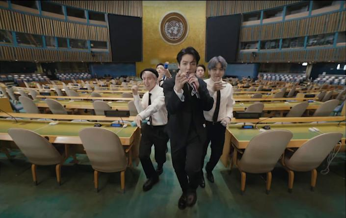 BTS perform at the United Nations headquarters in NYC