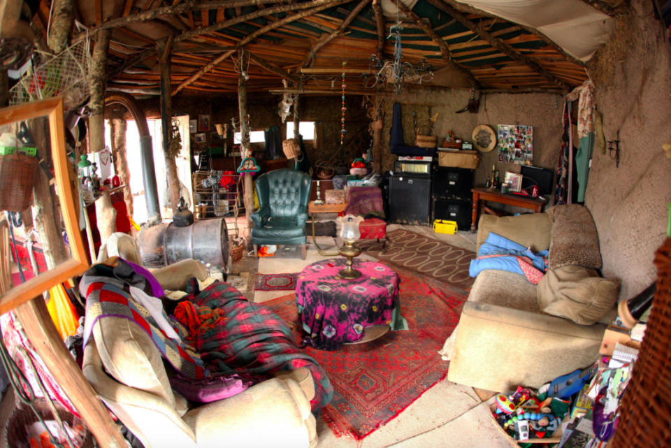 <em>The couple say they built the hut because they have an allergy to modern life (SWNS)</em>