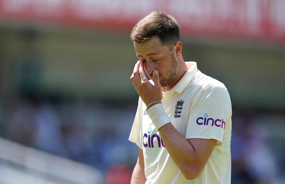 England's Ollie Robinson during a Test match at Lord's (PA Wire)