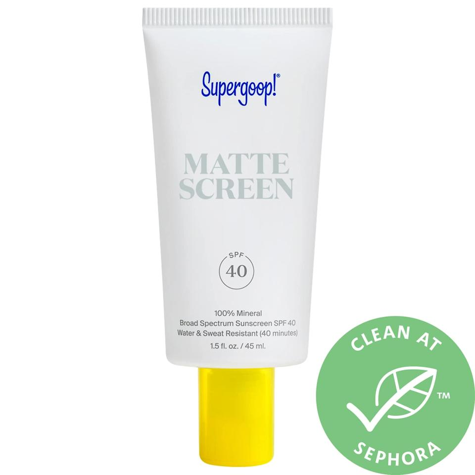 """<p>""""I love the <a href=""""https://www.popsugar.com/buy/Supergoop-Mattescreen-Sunscreen-SPF-40-530685?p_name=Supergoop%21%20Mattescreen%20Sunscreen%20SPF%2040&retailer=sephora.com&pid=530685&price=38&evar1=bella%3Aus&evar9=47580543&evar98=https%3A%2F%2Fwww.popsugar.com%2Fbeauty%2Fphoto-gallery%2F47580543%2Fimage%2F47581034%2FSupergoop-Mattescreen-Sunscreen-SPF-40&list1=beauty%20products%2Csunscreen%2Ceditors%20pick%2Csummer%2Cskin%20care&prop13=mobile&pdata=1"""" class=""""link rapid-noclick-resp"""" rel=""""nofollow noopener"""" target=""""_blank"""" data-ylk=""""slk:Supergoop! Mattescreen Sunscreen SPF 40"""">Supergoop! Mattescreen Sunscreen SPF 40</a> ($38) as it actually feels like a three-in-one product. First, it is a sunscreen, second it mattifies my skin, and third it acts like a primer before I apply any foundation. It provides a matte finish for my slightly oily skin that last throughout the day with makeup or without."""" - Lauren Hendrickson, head of shop and affiliate growth</p>"""
