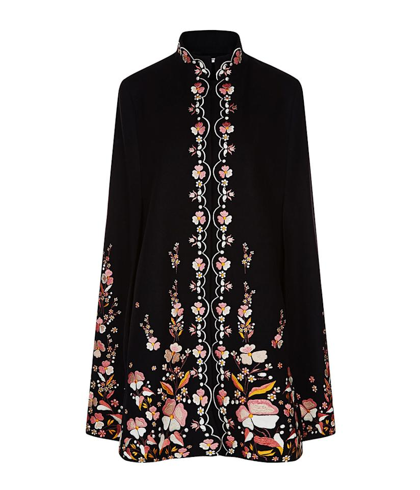 "<p>$1,905, <a rel=""nofollow"" href=""http://www.avenue32.com/us/black-wool-floral-embroidered-erin-cape/VIL00116020412.html?utm_source=polyvore&utm_medium=affiliate&utm_campaign=outerwear"">avenue32.com</a> </p>"