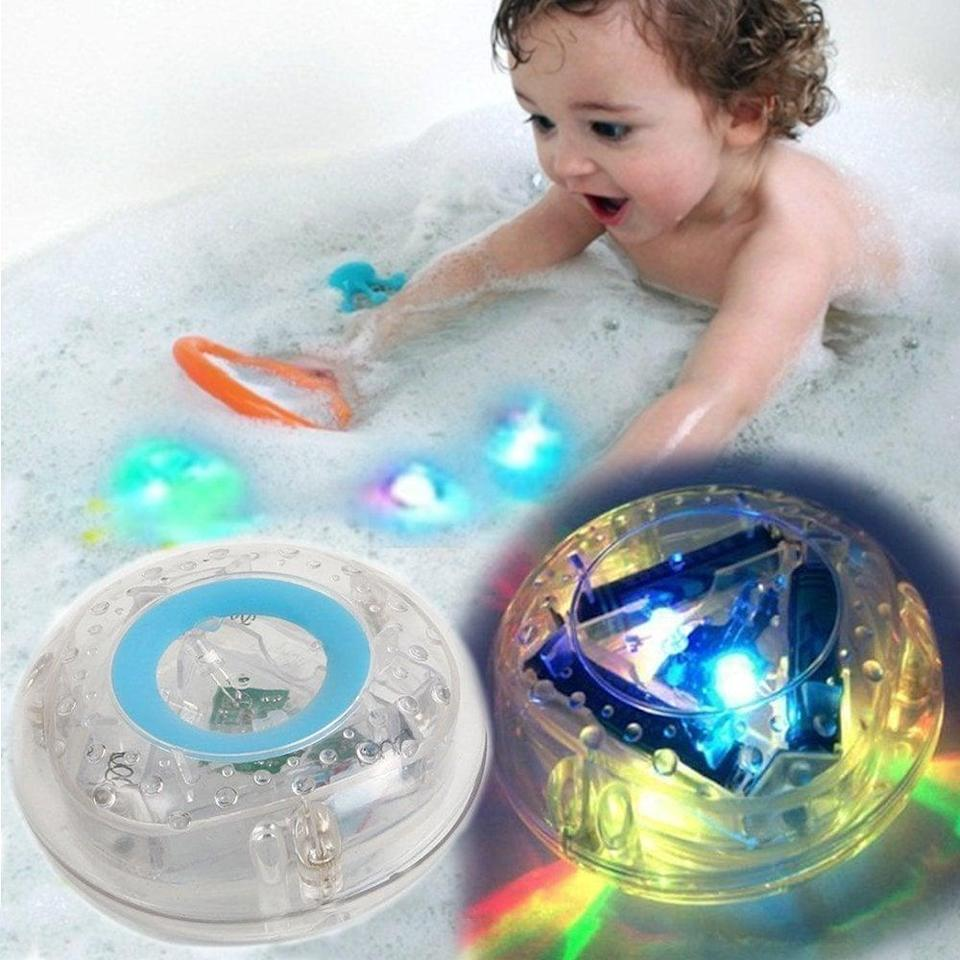 "<p>This <a href=""https://www.popsugar.com/buy/MorganProducts-Light-up-Waterproof-Toy-490890?p_name=MorganProducts%20Light-up%20Waterproof%20Toy&retailer=amazon.com&pid=490890&price=13&evar1=moms%3Aus&evar9=25800161&evar98=https%3A%2F%2Fwww.popsugar.com%2Fphoto-gallery%2F25800161%2Fimage%2F44870062%2FMorganProducts-Light-up-Waterproof-Toy&list1=gifts%2Camazon%2Choliday%2Ctoys%2Cchristmas%2Cgift%20guide%2Cparenting%2Ctoddlers%2Cgifts%20for%20kids%2Ckid%20shopping%2Choliday%20for%20kids%2Cgifts%20under%20%2450%2Cgifts%20under%20%2475%2Cgifts%20for%20toddlers%2Cbest%20of%202019&prop13=api&pdata=1"" class=""link rapid-noclick-resp"" rel=""nofollow noopener"" target=""_blank"" data-ylk=""slk:MorganProducts Light-up Waterproof Toy"">MorganProducts Light-up Waterproof Toy</a> ($13) makes bath time more fun.</p>"