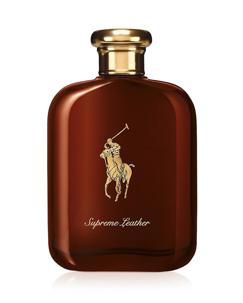 """<p>Because leather is one of the acclaimed designer's favorite materials to work with, it only made good sense to create a fragrance dedicated to it. The leather note in this is tempered with sweet honey, nutmeg and tonka bean to convey the warmth of a gentleman's club filled with handsome leather furnishings. <b><a href=""""http://www1.bloomingdales.com/shop/product/ralph-lauren-polo-supreme-leather-eau-de-parfum-100-bloomingdales-exclusive?ID=1496406"""" rel=""""nofollow noopener"""" target=""""_blank"""" data-ylk=""""slk:Polo Supreme Leather"""" class=""""link rapid-noclick-resp"""">Polo Supreme Leather</a> ($125)</b> </p>"""