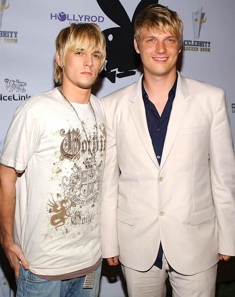 "Unlike the Lachey brothers, Aaron and Nick Carter have fallen on hard times since growing out of their teen idol images. Jean-Paul Aussenard/<a href=""http://www.wireimage.com"" target=""new"">WireImage.com</a> - July 11, 2006"
