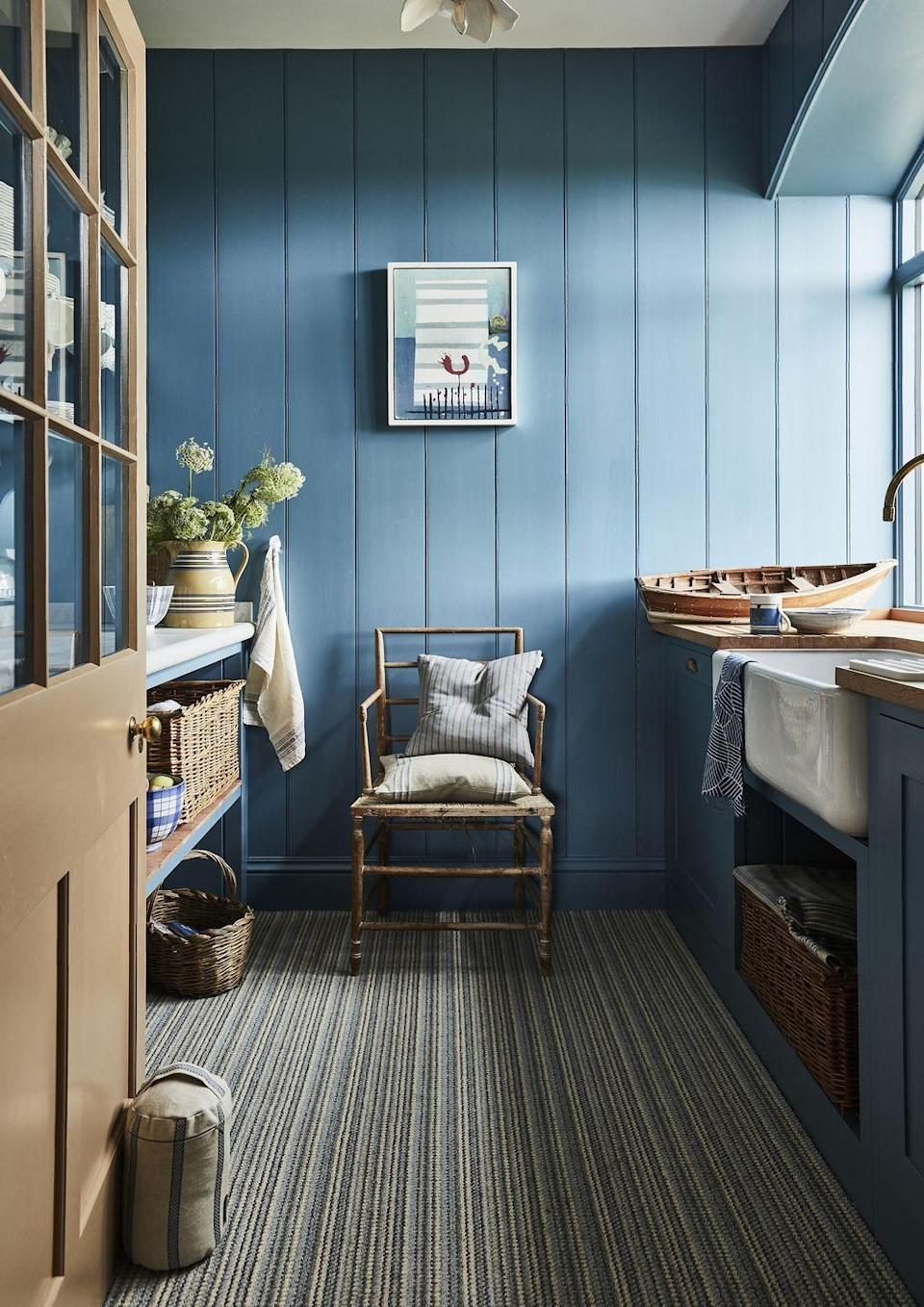 """<p>An abundance of print and pattern is a quintessential feature of country homes. Our Country Living Taylor Loop carpet at Carpetright uses natural forest greens and browns for a classic country colour palette, and is hardy enough for high traffic areas such as a hallway and even a kitchen. </p><p>Pictured: <a href=""""https://www.carpetright.co.uk/carpets/taylor-loop-pile-carpet/"""" rel=""""nofollow noopener"""" target=""""_blank"""" data-ylk=""""slk:Country Living Taylor Loop Pile Carpet at Carpetright"""" class=""""link rapid-noclick-resp"""">Country Living Taylor Loop Pile Carpet at Carpetright </a></p>"""