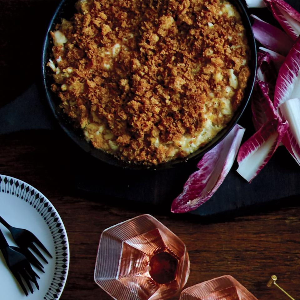 "<p>Boston chef Matt Jennings tops this simple, crab-packed dip with supercrispy brown-butter breadcrumbs.</p><p><a href=""https://www.foodandwine.com/recipes/new-england-crab-dip-brown-butter-crumbs"">GO TO RECIPE</a></p>"