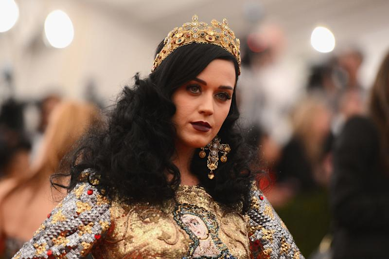 Katy Perry dressed in Dolce & Gabbana at the 2013 Met Gala.  (Stephen Lovekin via Getty Images)