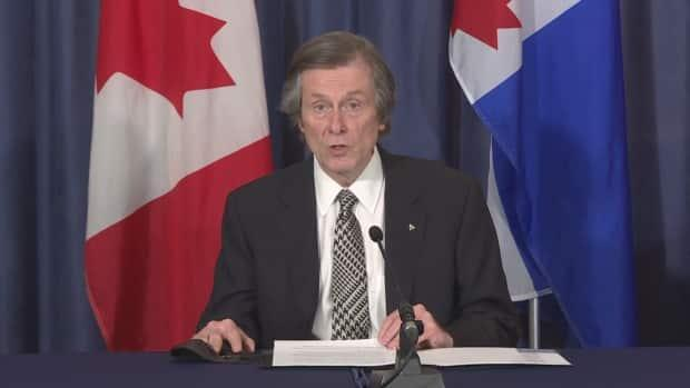 Toronto Mayor John Tory says more than 40 per cent of residents in the city who are eligible have now had at least their first shot. (CBC - image credit)