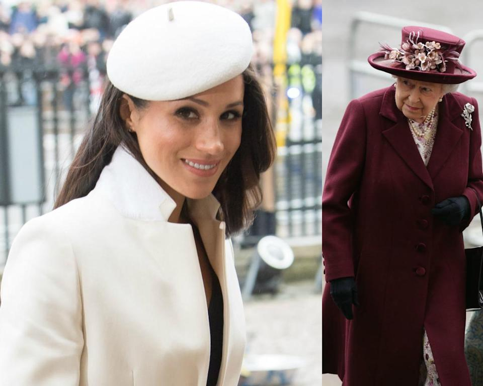 <p><strong>When: March 12, 2018</strong><br>Meghan Markle and her fiancé Prince Harry joined other senior members of the royal family for the 2018 Commonwealth Day service at Westminster Abbey in London, England, on Monday, including Prince Charles, Camilla, Prince William, Kate Middleton — and even Queen Elizabeth! <em>(Photos: Getty)</em> </p>