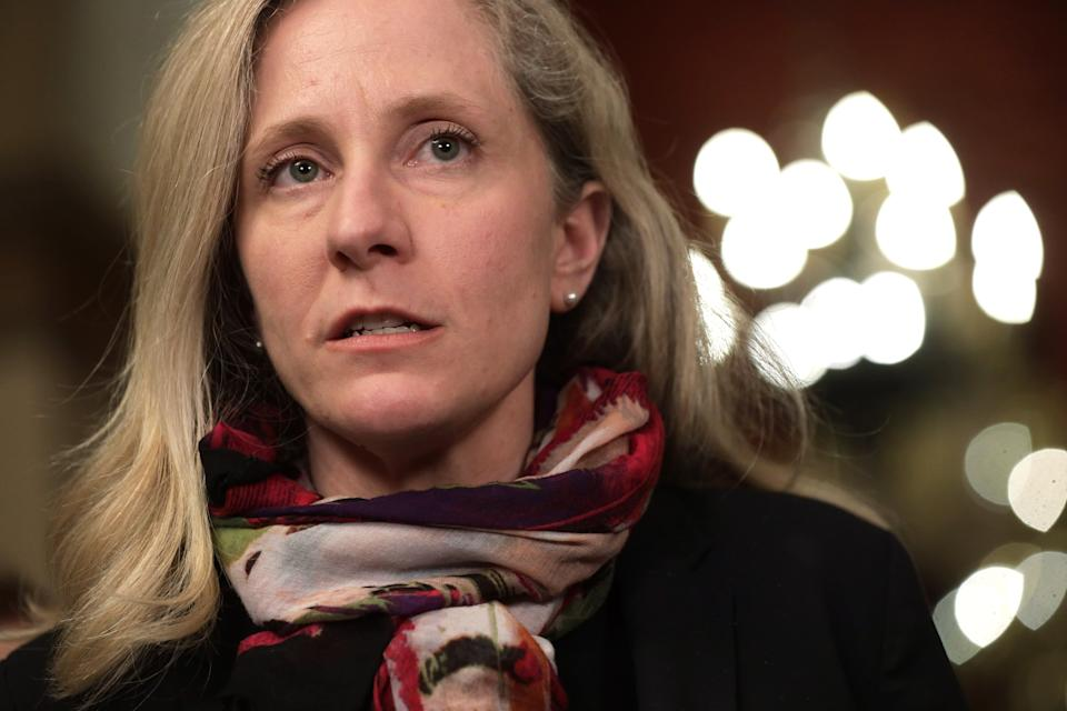 WASHINGTON, DC - MARCH 13:  U.S. Rep. Abigail Spanberger (D-VA) speaks to members of the media at the U.S. Capitol March 13, 2020 in Washington, DC. Speaker of the House Rep. Nancy Pelosi held a briefing on the Coronavirus Aid Package Bill that will deal with the outbreak of COVID-19.  (Photo by Alex Wong/Getty Images)