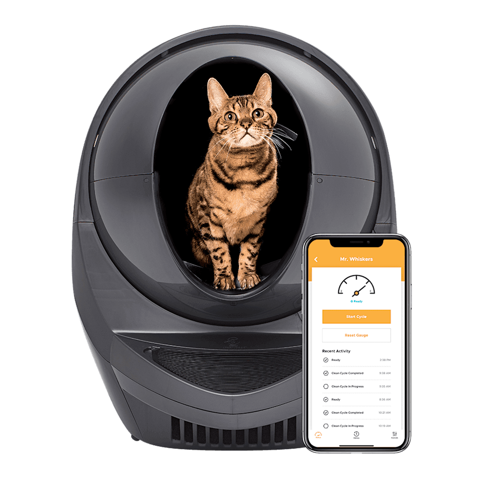 """<h3><h2>Litter-Robot 3 Connect</h2></h3><br>""""Fellow cat-owners, let's be honest, scooping our pets' poop and pee is actually the worst — especially if they like to watch smugly like evil feline dictators. Having a robot scoop the litter instead is obviously not a necessity but it is really, really nice. While the Litter-Robot is definitely pricey, it does take the burden of scooping off of you. And after having had my two cats use it for about a month, the robot has also cut back significantly on the number of emergency litter runs I've had to make because the scooping is <em>so</em> efficient. It did, understandably, take a little while for my two skittish kitties to get used to it, so if you decide to make the investment, I recommend keeping your regular litter box around for a bit just in case. The brand's website also has some good <a href=""""https://www.litter-robot.com/acclimating-your-cat.html"""" rel=""""nofollow noopener"""" target=""""_blank"""" data-ylk=""""slk:tips on helping your cat acclimate"""" class=""""link rapid-noclick-resp"""">tips on helping your cat acclimate</a>. I'm most excited to go on vacation and not have to worry about guiltly asking the friend whom I've begged to catsit if she could please also clean out their poop box. That should really only be a parent's responsibility. Or, now, the responsibility of our lovely Litter-Robot pal."""" <em>— OH</em><br><br><strong>Litter-Robot</strong> Litter-Robot 3 Connect, $, available at <a href=""""https://go.skimresources.com/?id=30283X879131&url=https%3A%2F%2Fwww.litter-robot.com%2Flitter-robot-iii-open-air-with-connect.html"""" rel=""""nofollow noopener"""" target=""""_blank"""" data-ylk=""""slk:Litter Robot"""" class=""""link rapid-noclick-resp"""">Litter Robot</a>"""