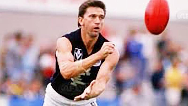 Mark Naley, pictured here playing for Carlton in the 1980s.