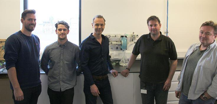Nick Grey (centre) and his design team (Gtech/PA Wire)
