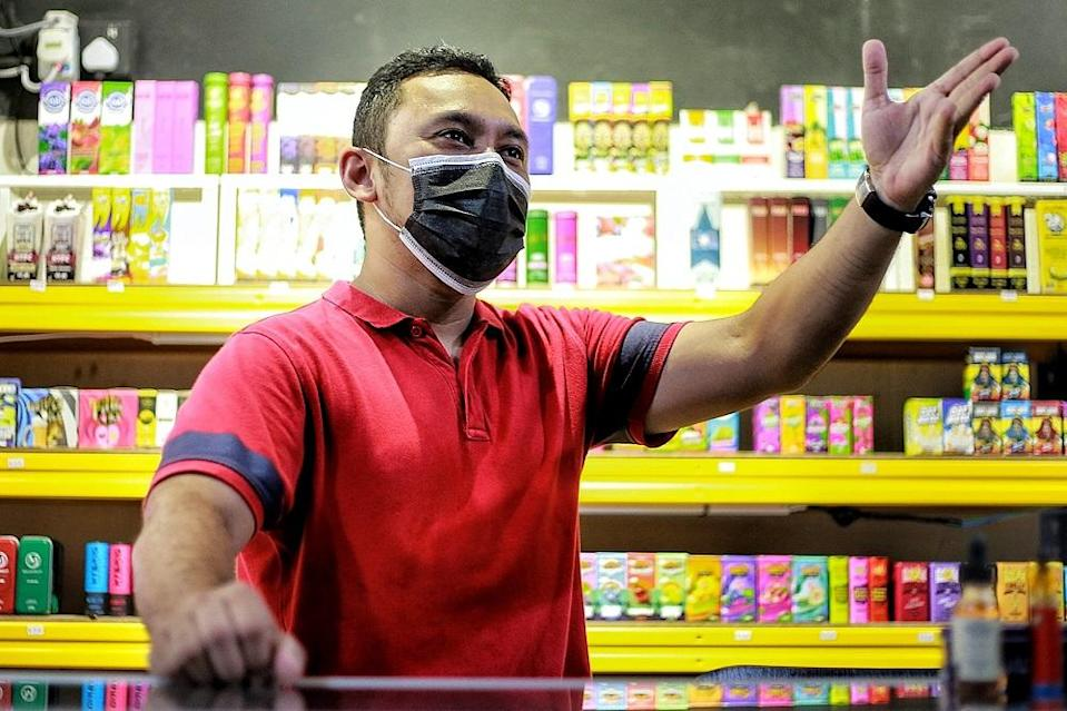 Mohd Hiekal bin Rosli, 39, owner of Molek Vape says the proposed tax on vape liquids is too steep.
