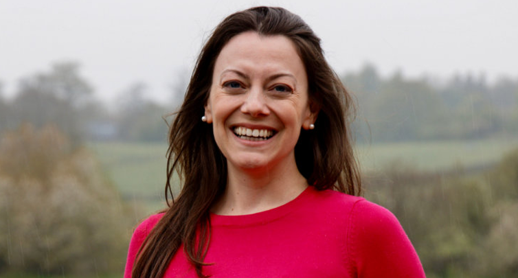 Head and shoulders shot of Lib Dem MP, Sarah Green, from her website.