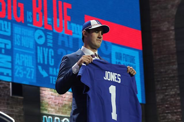 The Giants taking Duke quarterback Daniel Jones at No. 6 in the 2019 NFL draft was roundly panned. (Getty Images)