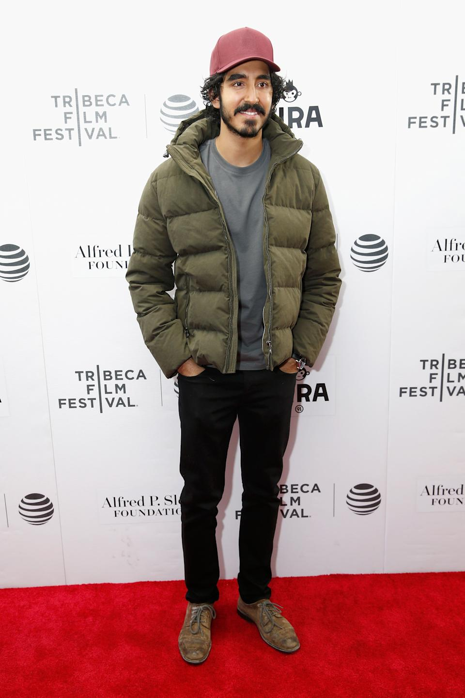 "Patel at the premiere of ""The Man Who Knew Infinity"" during the Tribeca Film Festival at Regal Battery Park Cinemas in New York City on April 15, 2016."