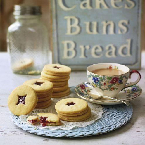 """<p>Try making these delicious raspberry jam biscuits, perfect for any occasion.<br><br><strong>Recipe:</strong> <a href=""""https://www.goodhousekeeping.com/uk/food/recipes/jammy-delights-biscuits?click=main_sr"""" rel=""""nofollow noopener"""" target=""""_blank"""" data-ylk=""""slk:Jammy delights"""" class=""""link rapid-noclick-resp"""">Jammy delights</a><br> </p>"""
