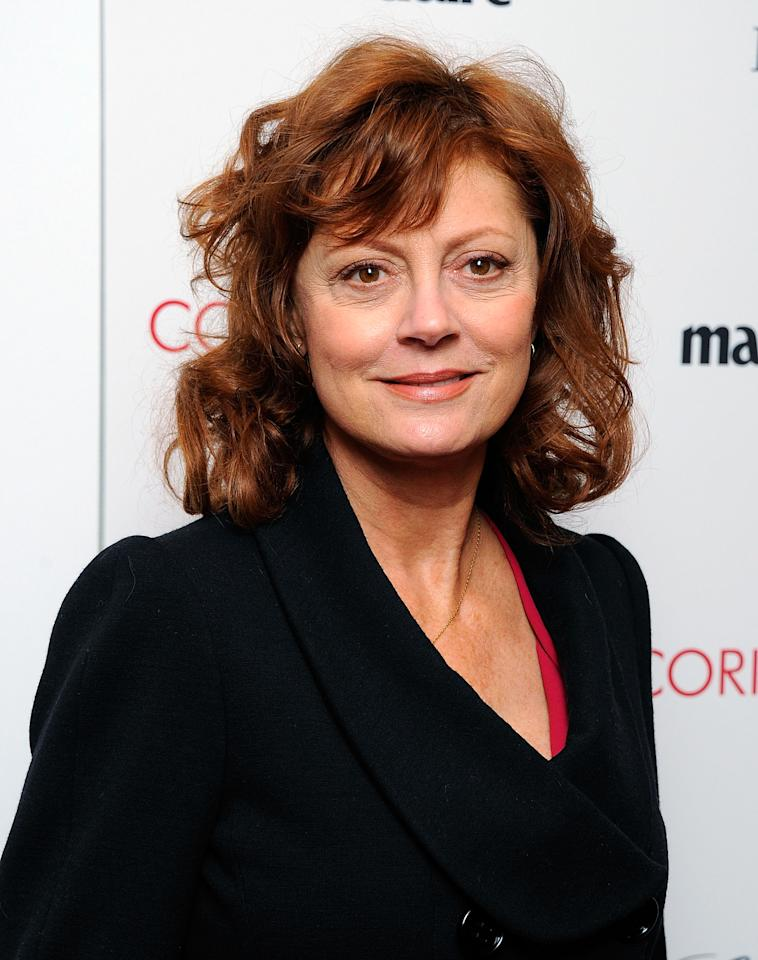 "NEW YORK, NY - JANUARY 17:  Actress Susan Sarandon attends the premiere of ""Coriolanus"" at Paris Theater on January 17, 2012 in New York City.  (Photo by Andrew H. Walker/Getty Images)"