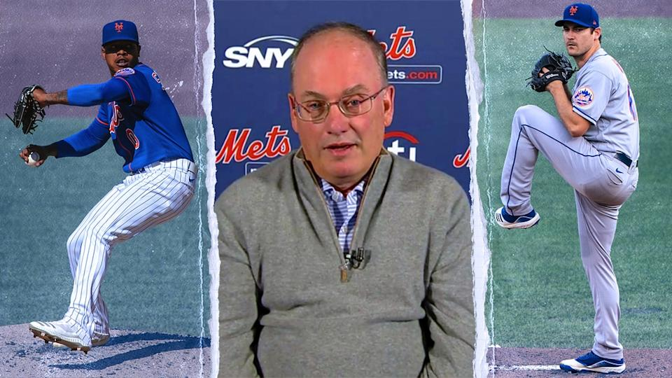 Marcus Stroman, Steve Cohen, and Seth Lugo TREATED ART