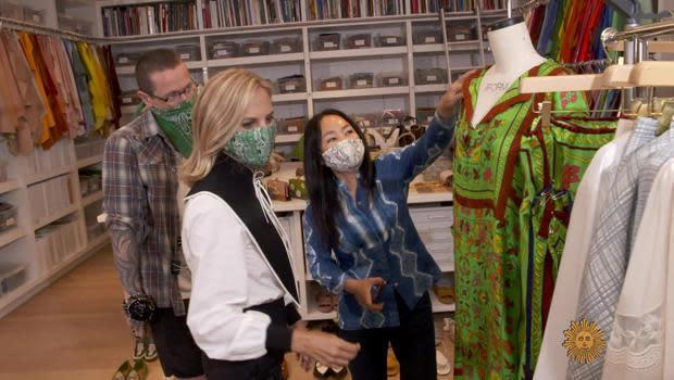 Designer Tory Burch (foreground). / Credit: CBS News